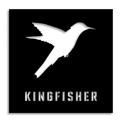 Kingfisher | Plasma cut signs and artwork in Spain by Plasma Wizard