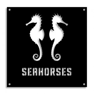 Seahorses | Plasma cut signs and artwork in Spain by Plasma Wizard