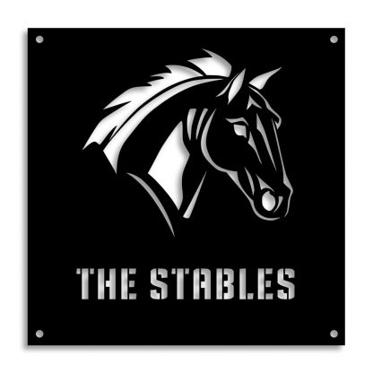 The Stables | Plasma cut signs and artwork in Spain by Plasma Wizard