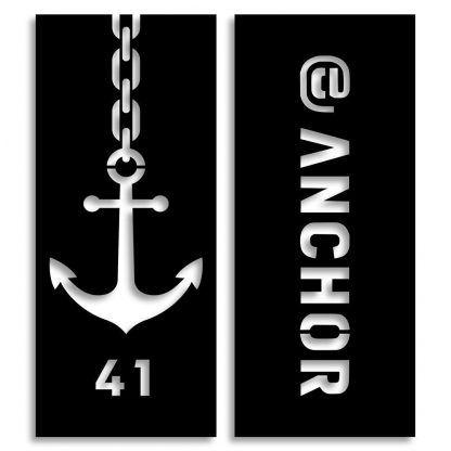 At Anchor designed by Mike Horseman | Plasma cut name plates | Spain
