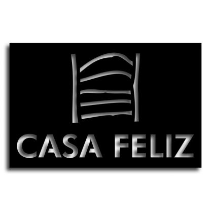 Casa Feliz | Plasma cut signs and house name plates, Spain