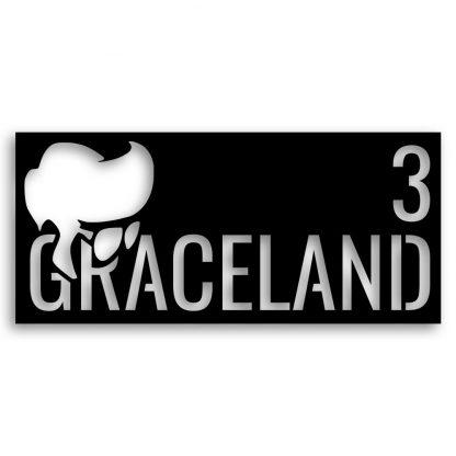 Graceland plasma cut house name   Plasma cutting services Spain