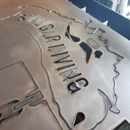 S'Algar Diving | Plasma Cut Artwork | Menorca Spain