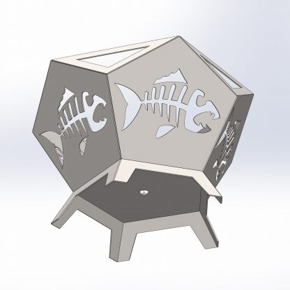 Fish Barrel Fire Pit | DXF Files for Plasma Cutting