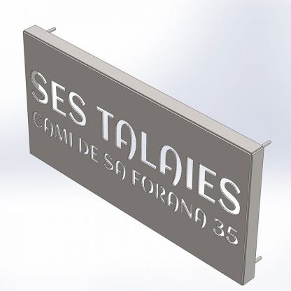 Ses Talaies | Plasma cut house signs and nameplate | Menorca Spain