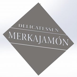 Delicatessen Merkajamón | Plasma cut metal sign, Plasma Wizard, Spain