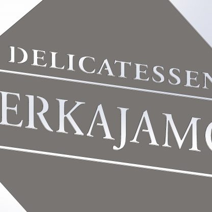 Delicatessen Merkajamón | Plasma cut metal sign, Plasma Wizard, Spain