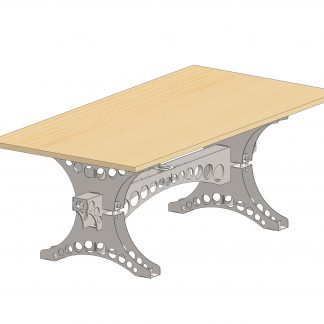 Dining table leg set | DXF Files for Plasma cutting