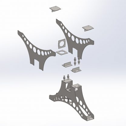 Exploded leg | Dining table | DXF files for download and plasma cutting