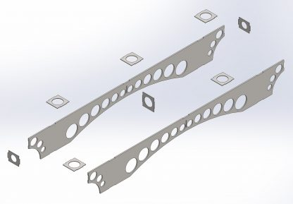 Exploded view of centre section | Dining table | DXF files for download and plasma cutting