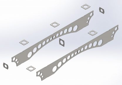 Exploded view of centre section   Dining table   DXF files for download and plasma cutting