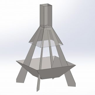 Chmney Fire Pit #16   DXF Files for plasma cutting